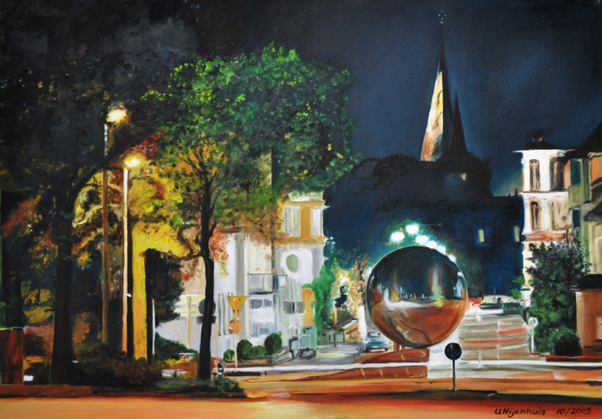 Herfords Kugel bei Nacht, Gemälde